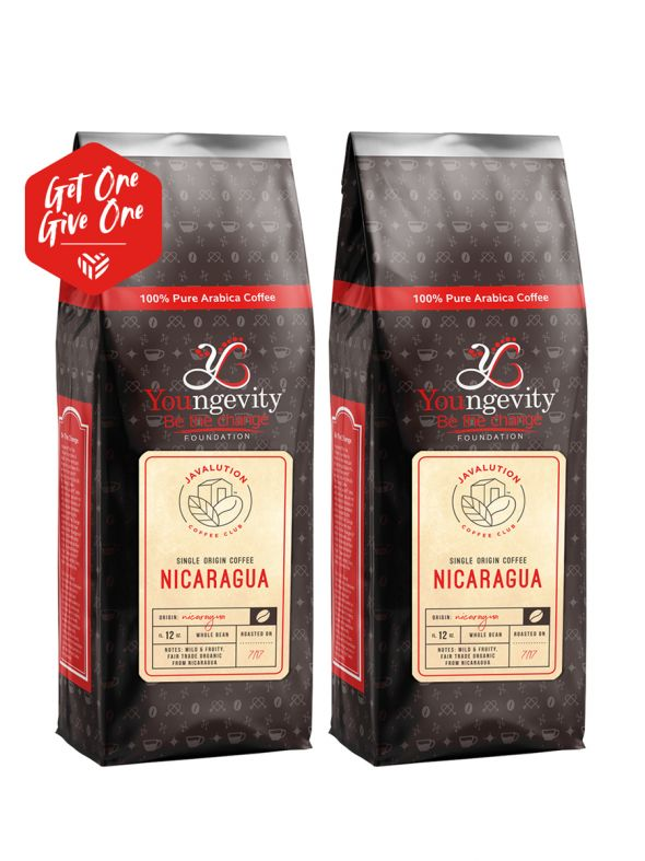 Javalution Club Single Origin Coffee Limited Edition—Nicaragua Whole Bean(12oz) [QTY: 2 | Get One, Give One FREE]