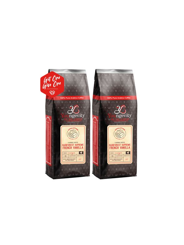 Javalution Club French Vanilla Flavored Rainforest Supreme Coffee Limited Edition—Nicaaragua Ground (12oz) [QTY: 2 | Get One, Give One FREE]